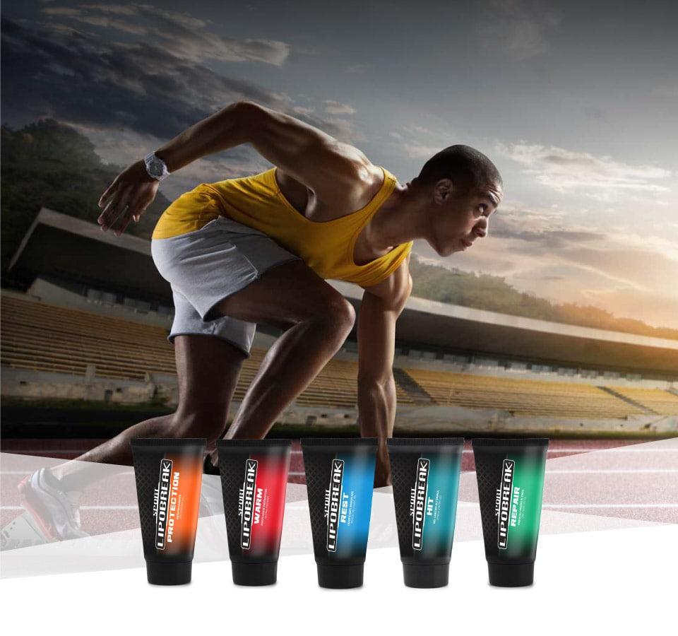 Lipobreak - Creme e Gel per gli Sportivi | Atletica Leggera