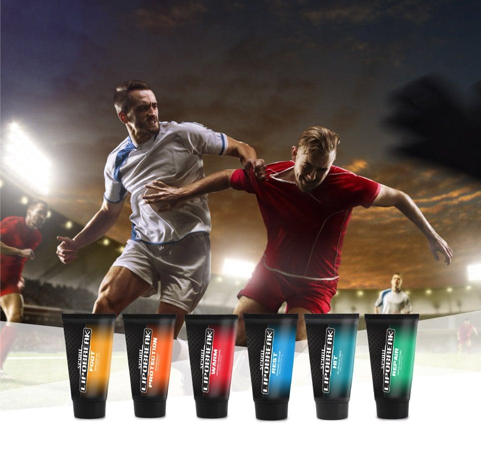 Lipobreak - Creme e Gel per gli Sportivi | Calcio